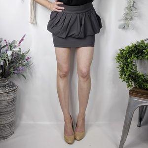 ZARA NWOT crepe Bubble peplum stretch mini skirt,
